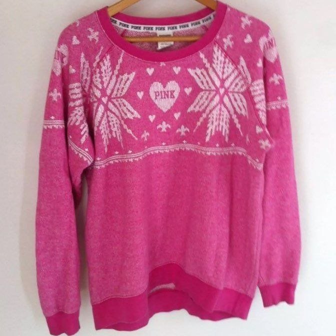 Vs Pink Christmas Sweater - Mercari: BUY & SELL THINGS YOU LOVE