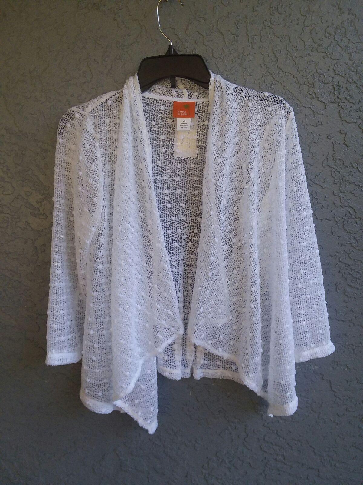 Sheer white cardigan - Mercari: BUY & SELL THINGS YOU LOVE