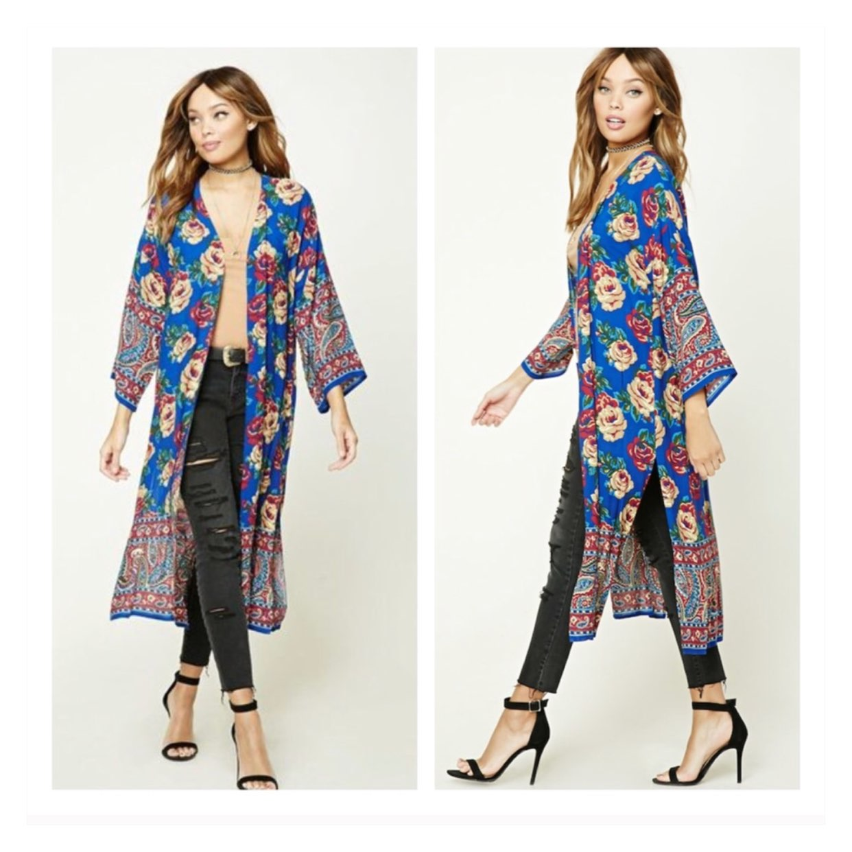 Floral Print Kimono Cardigan - Mercari: BUY & SELL THINGS YOU LOVE