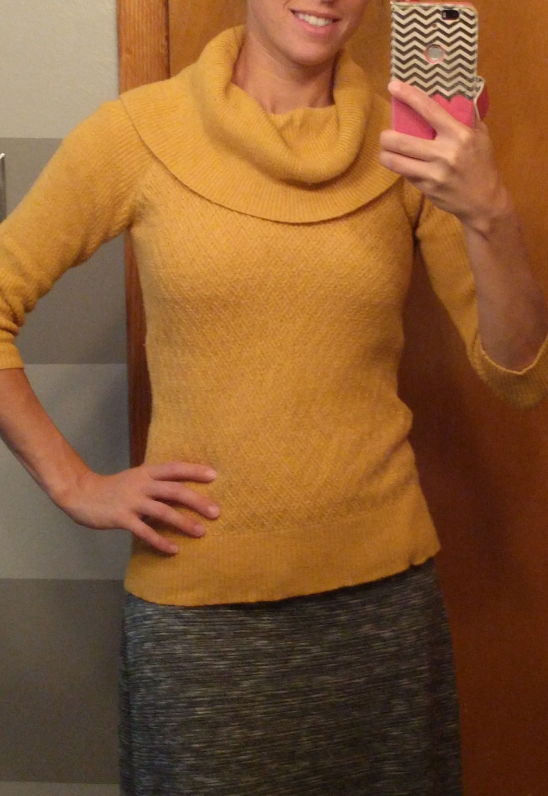 The limited XS mustard cowl neck sweater - Mercari: BUY & SELL ...