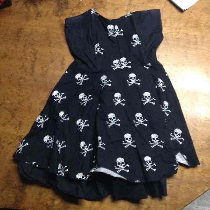 Skull Strapless Dress