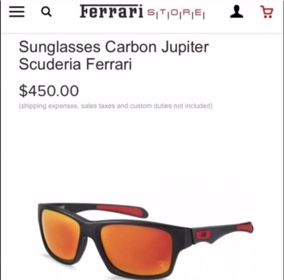 Oakley Ferrari Carbon Sunglasses Carbon