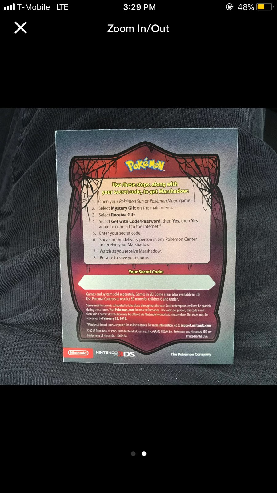 Marshadow Code Mercari Buy Amp Sell Things You Love