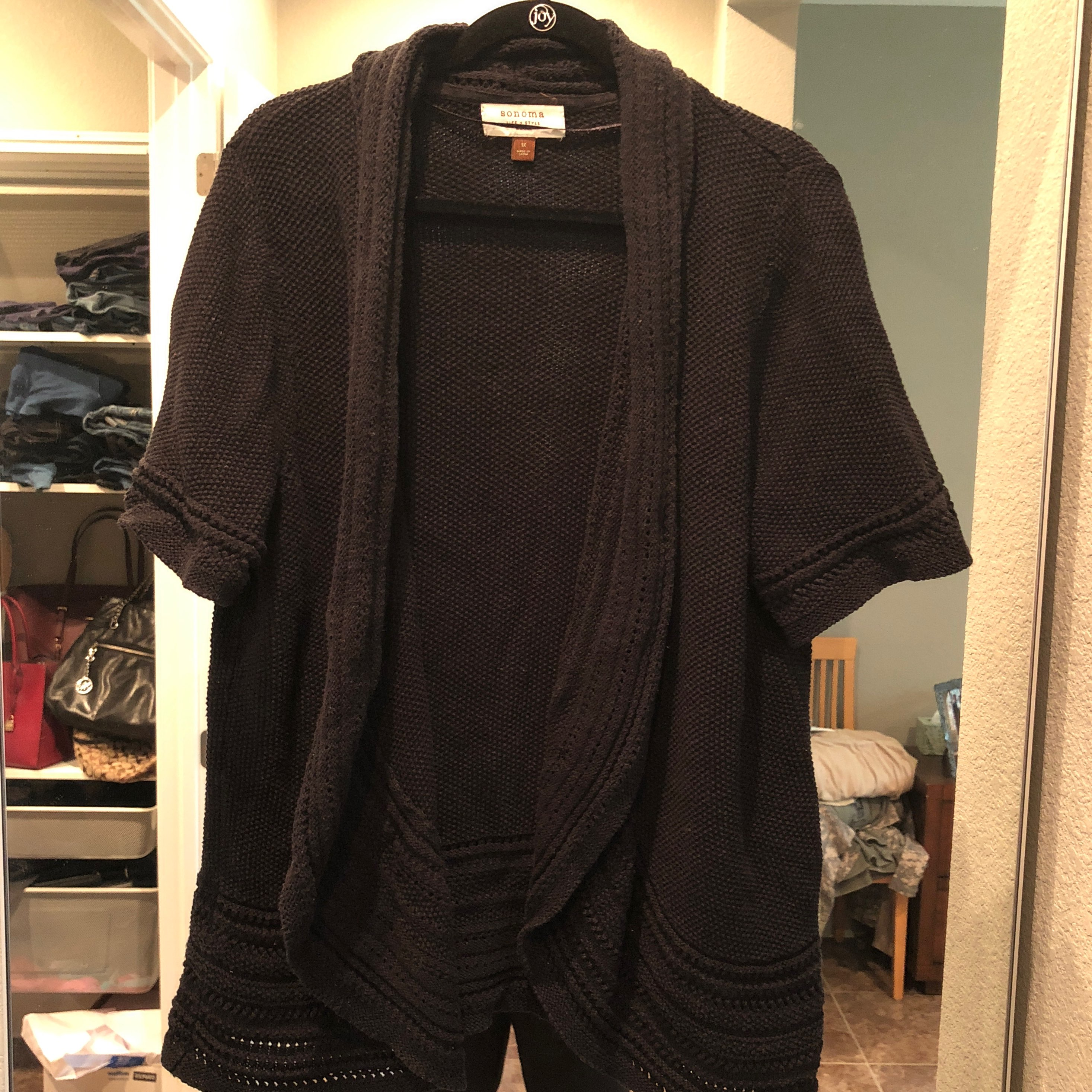 Sonoma Short Sleeve Cardigan - Mercari: BUY & SELL THINGS YOU LOVE