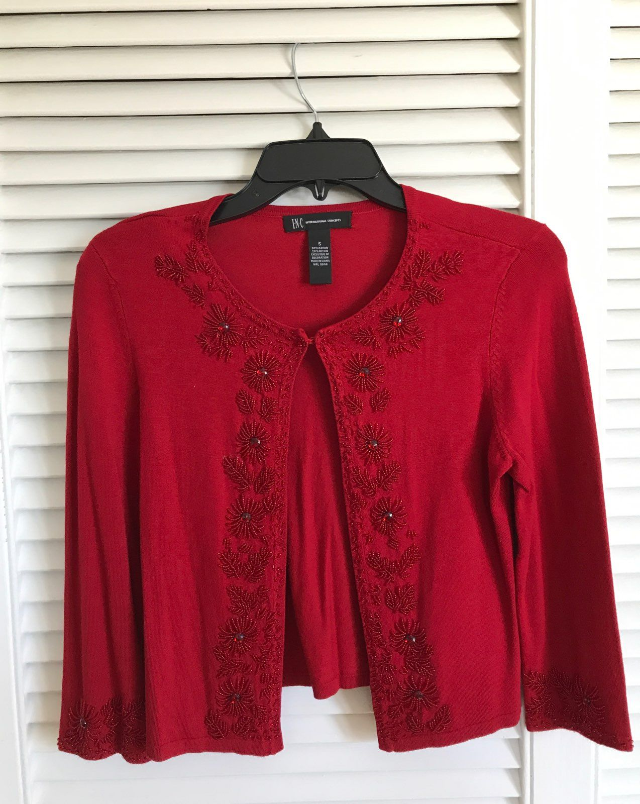 Red Sequin Sweater Size Small - Mercari: BUY & SELL THINGS YOU LOVE