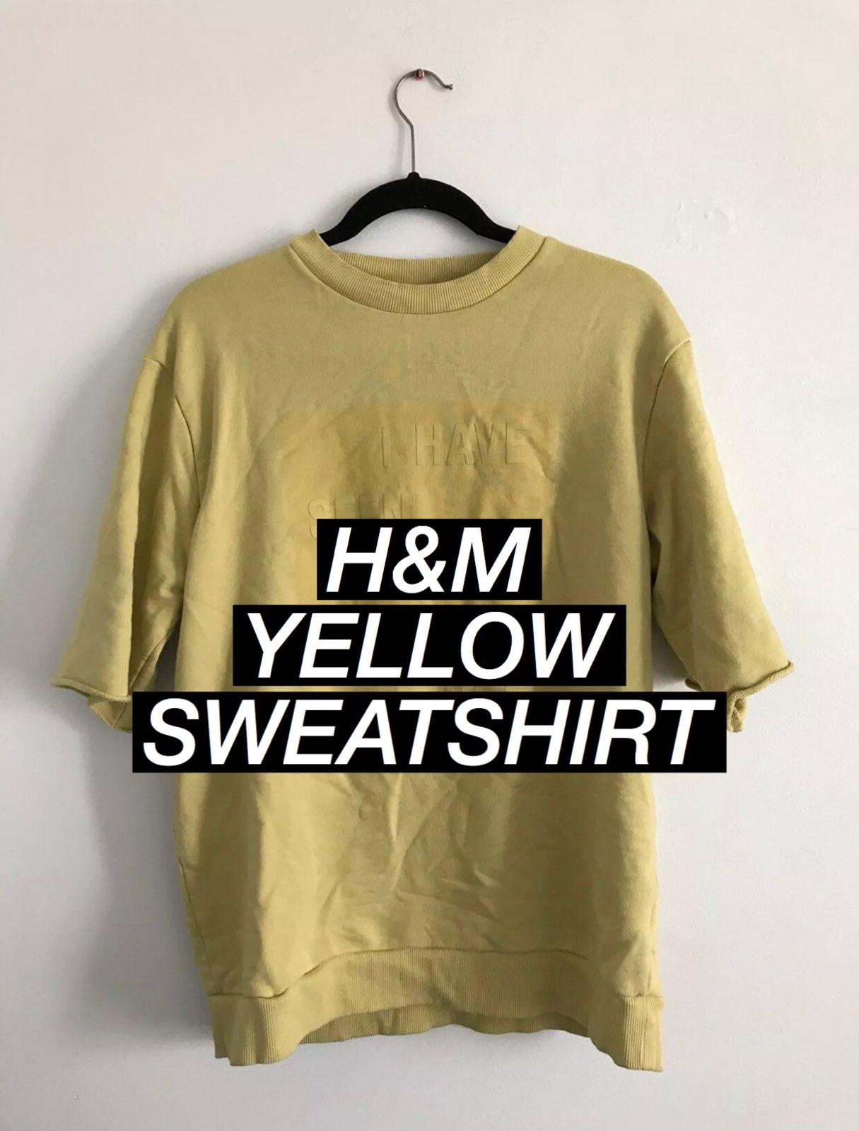H&M Men Yellow Short Sleeve Sweater - Mercari: BUY & SELL THINGS ...
