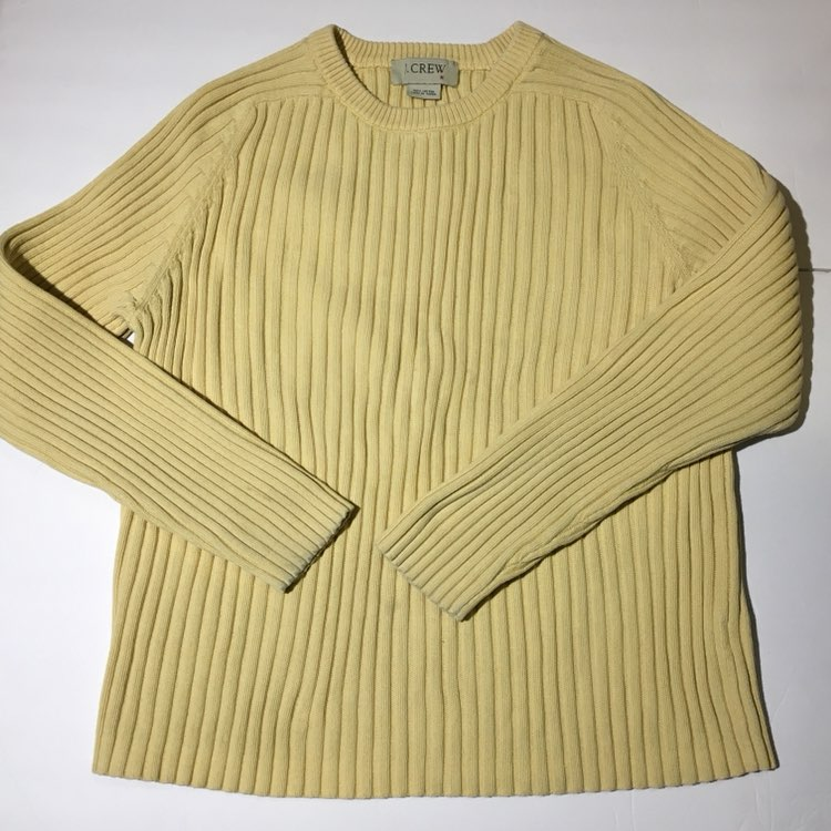 J Crew Light Yellow Sweater - Mercari: BUY & SELL THINGS YOU LOVE