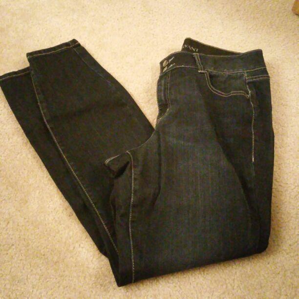 Lane Bryant dark skinny jeans 16 long XL