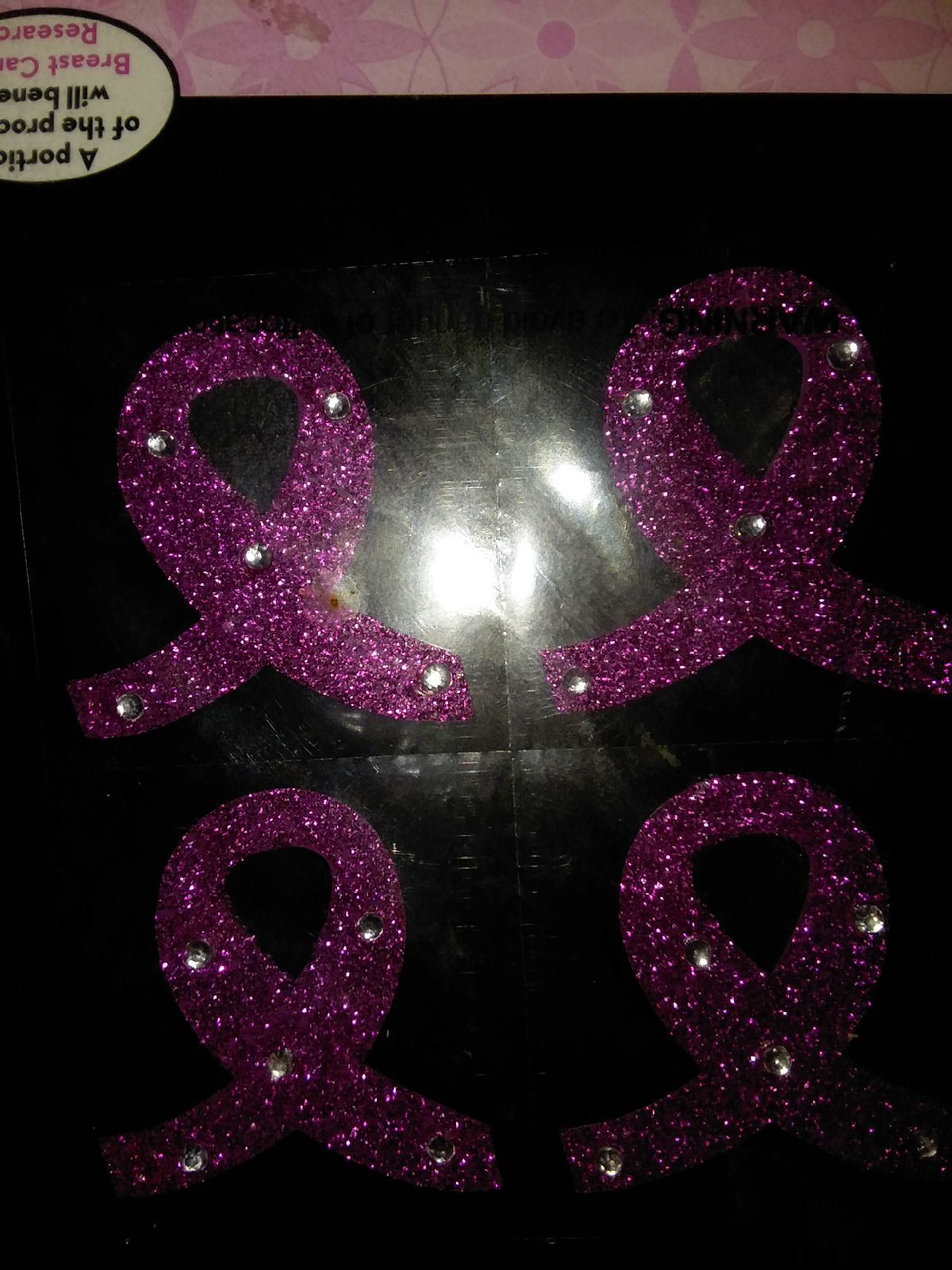 (4) Breast cancer body stickers