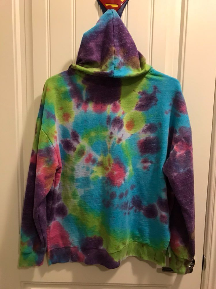 Pink VS tie dyed Hoodie Small