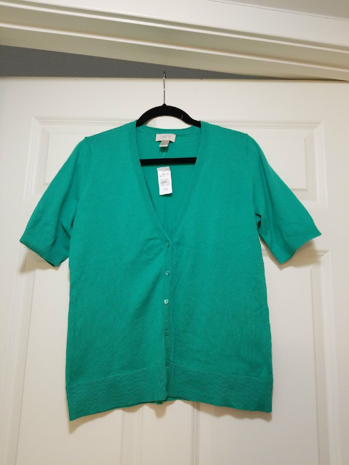 Green short sleeve cardigan - Mercari: BUY & SELL THINGS YOU LOVE