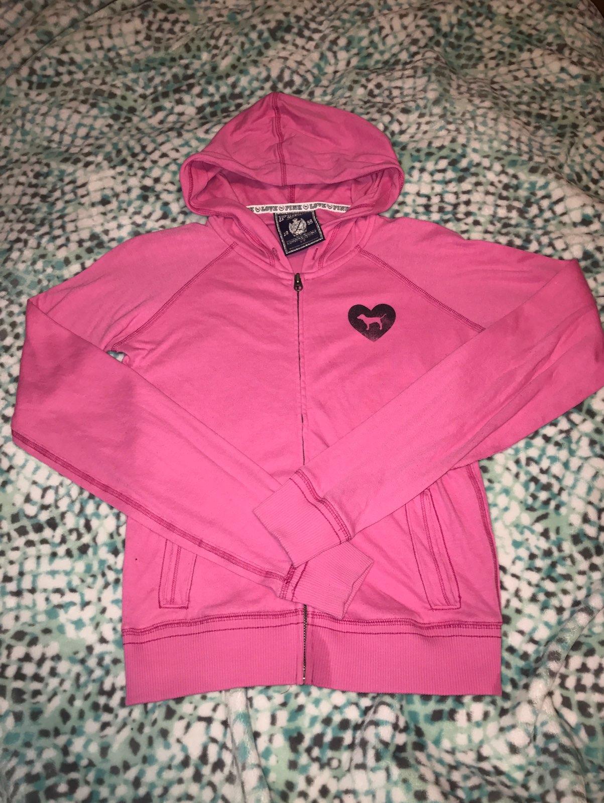 Victoria Secret PINK sweater Full Zip - Mercari: BUY & SELL THINGS ...