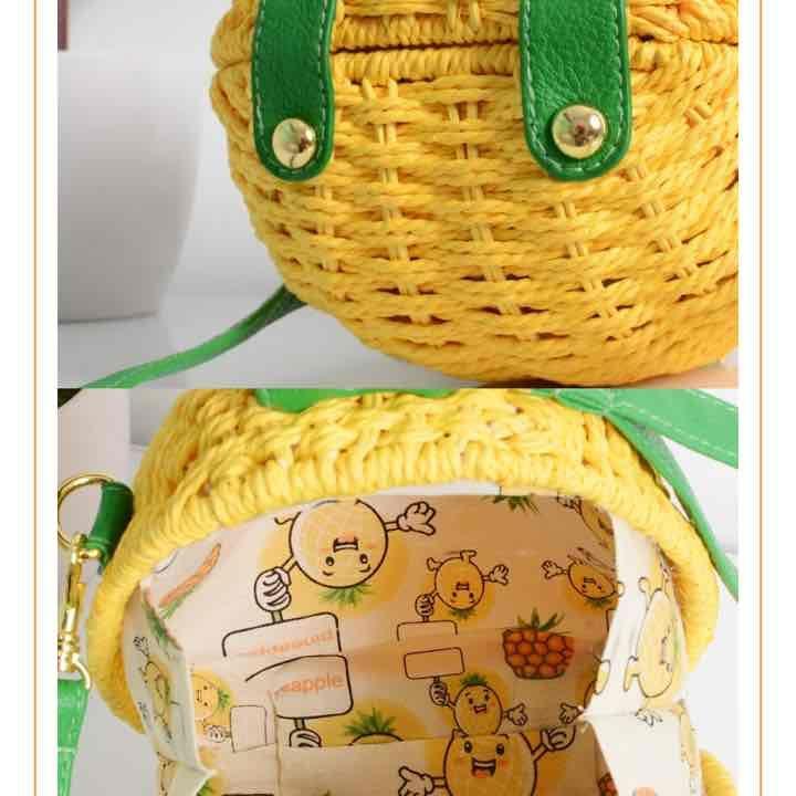 Pineapple clutch, handbag