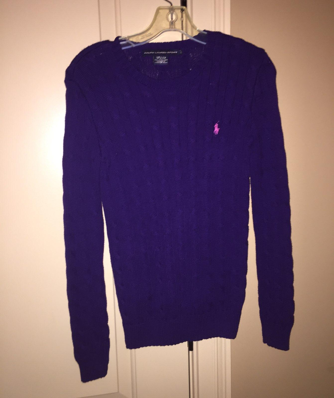 Royal Purple Ralph Lauren Polo Sweater - Mercari: BUY & SELL ...