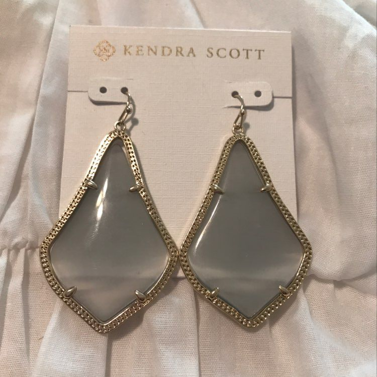 Kendra Scott Slate Alexandra Earrings