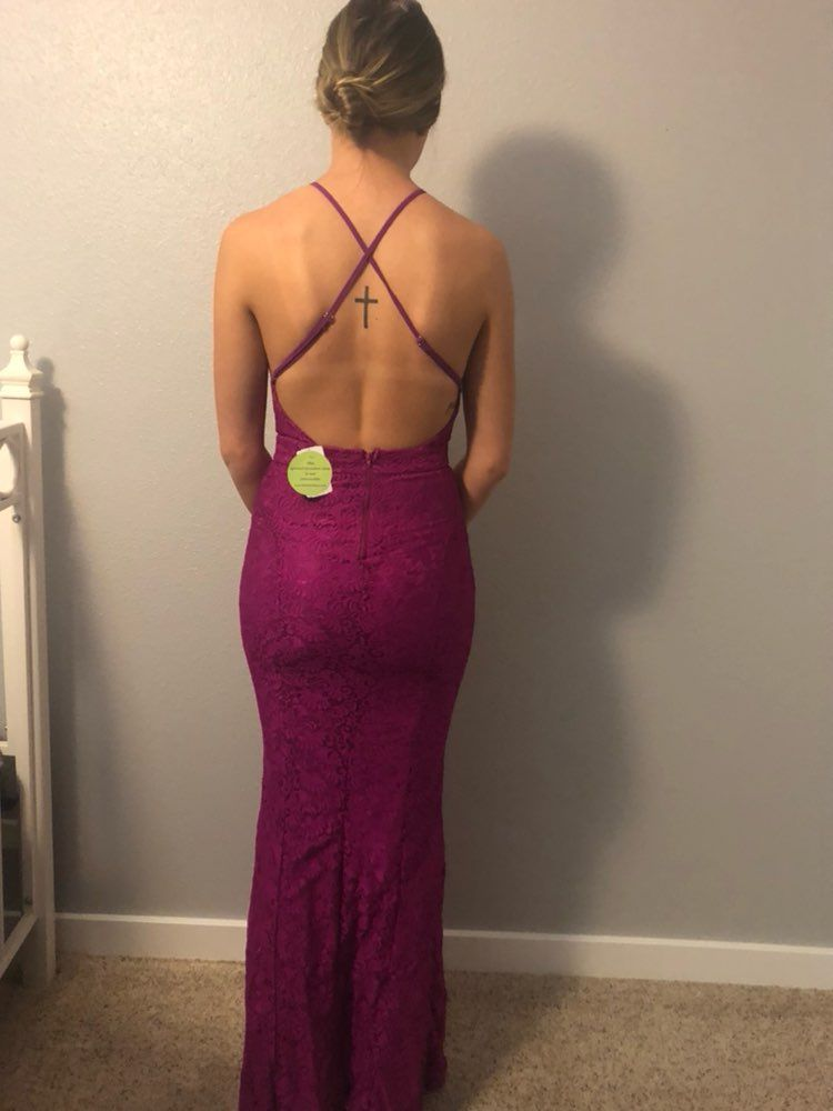 Backless Prom Dress, Small