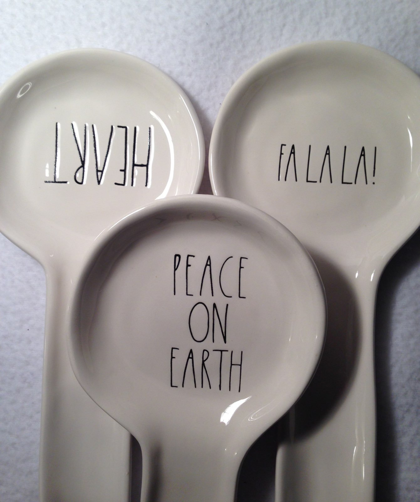 Rae Dunn Spoon Rest - Heart FaLaLa Peace