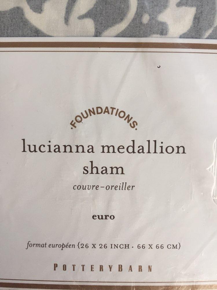 Pottery Barn Lucianna Medallion Eurosham