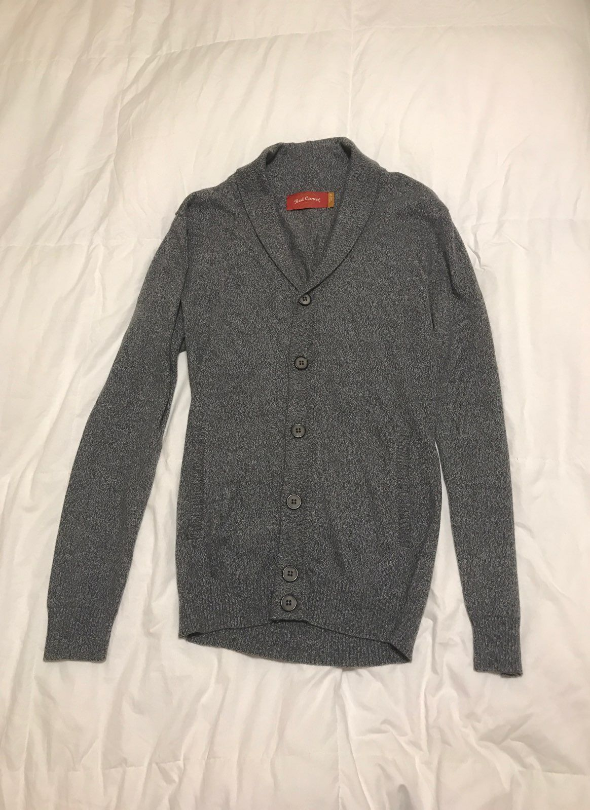 Men's Red Camel Cardigan Size Small - Mercari: BUY & SELL THINGS ...