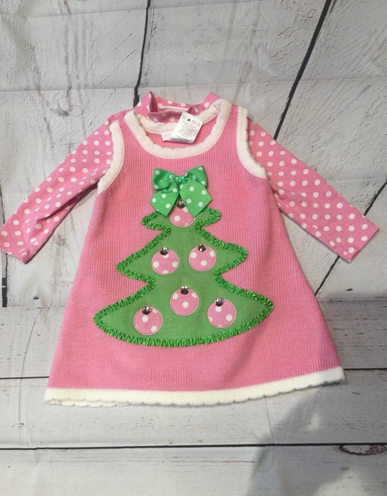 Pink Holiday Sweater Dress Christmas! - Mercari: BUY & SELL THINGS ...