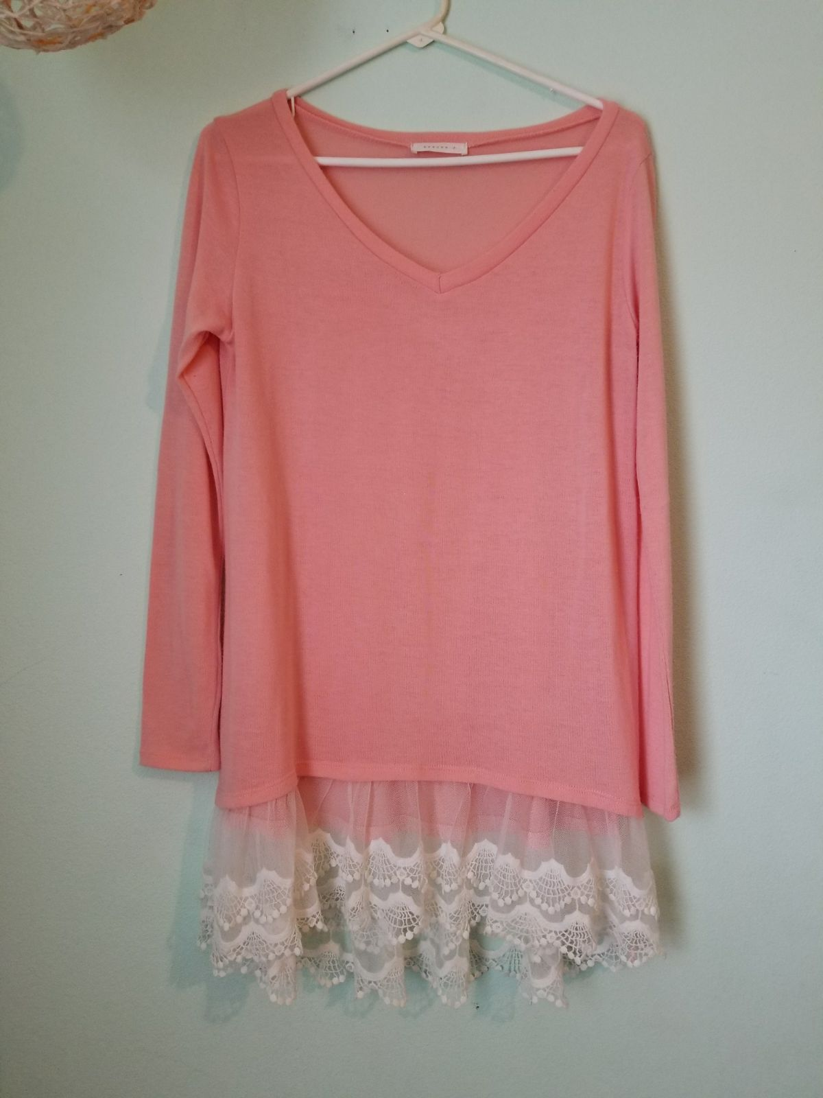 Light Coral Thin Sweater