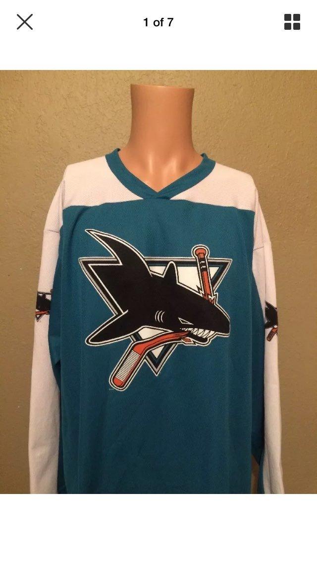 Mens San Jose Sharks Printed Jersey