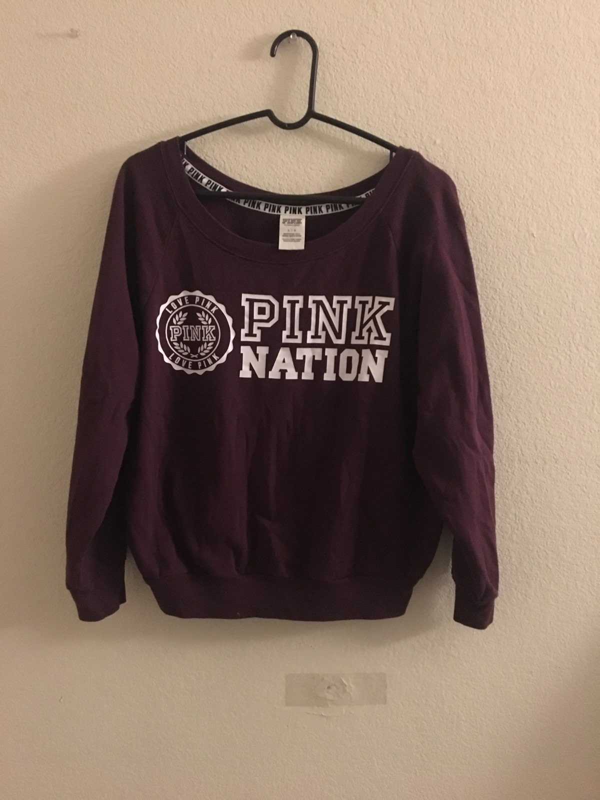 VS Pink Nation Red Sweater - Mercari: BUY & SELL THINGS YOU LOVE