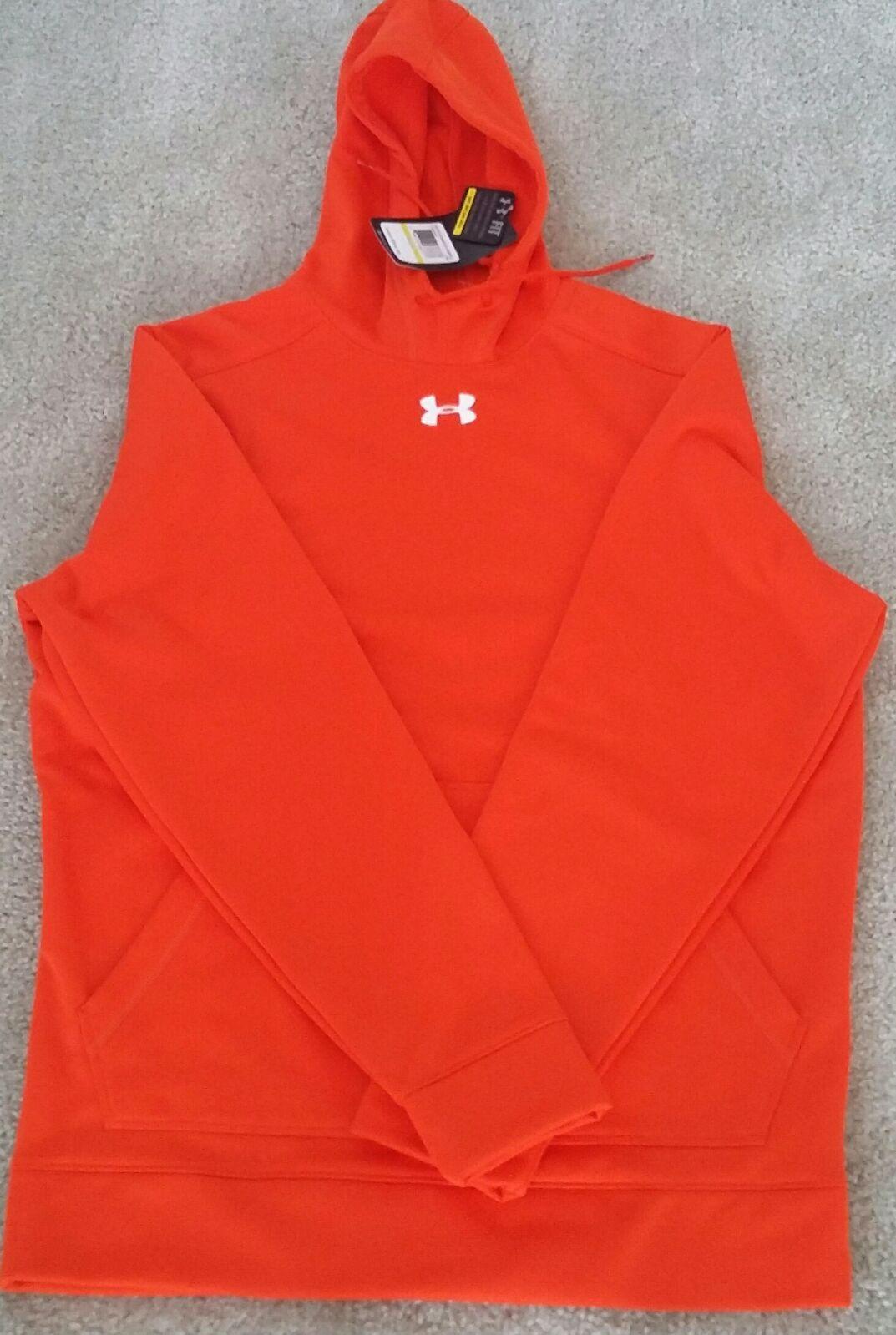 under armour hoodie men orange md