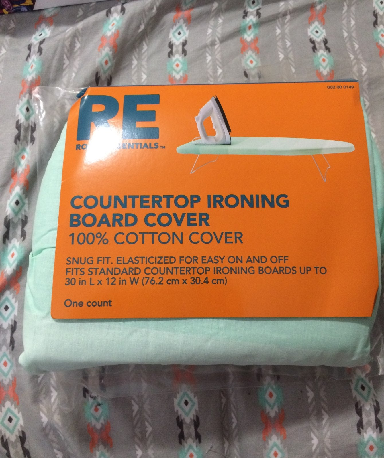 Teal Countertop Ironing Board Cover