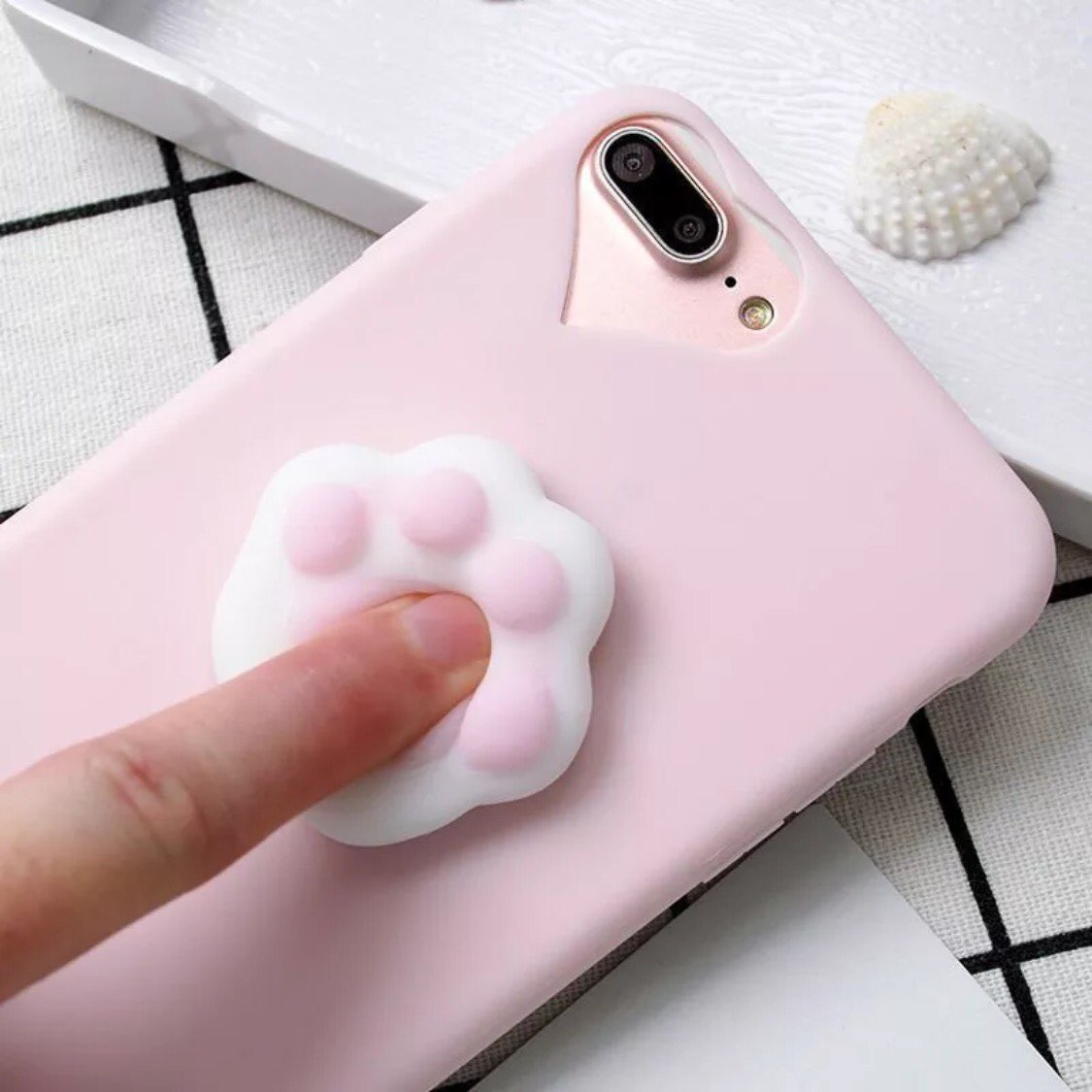 Squishy Cat Paw Phone Case