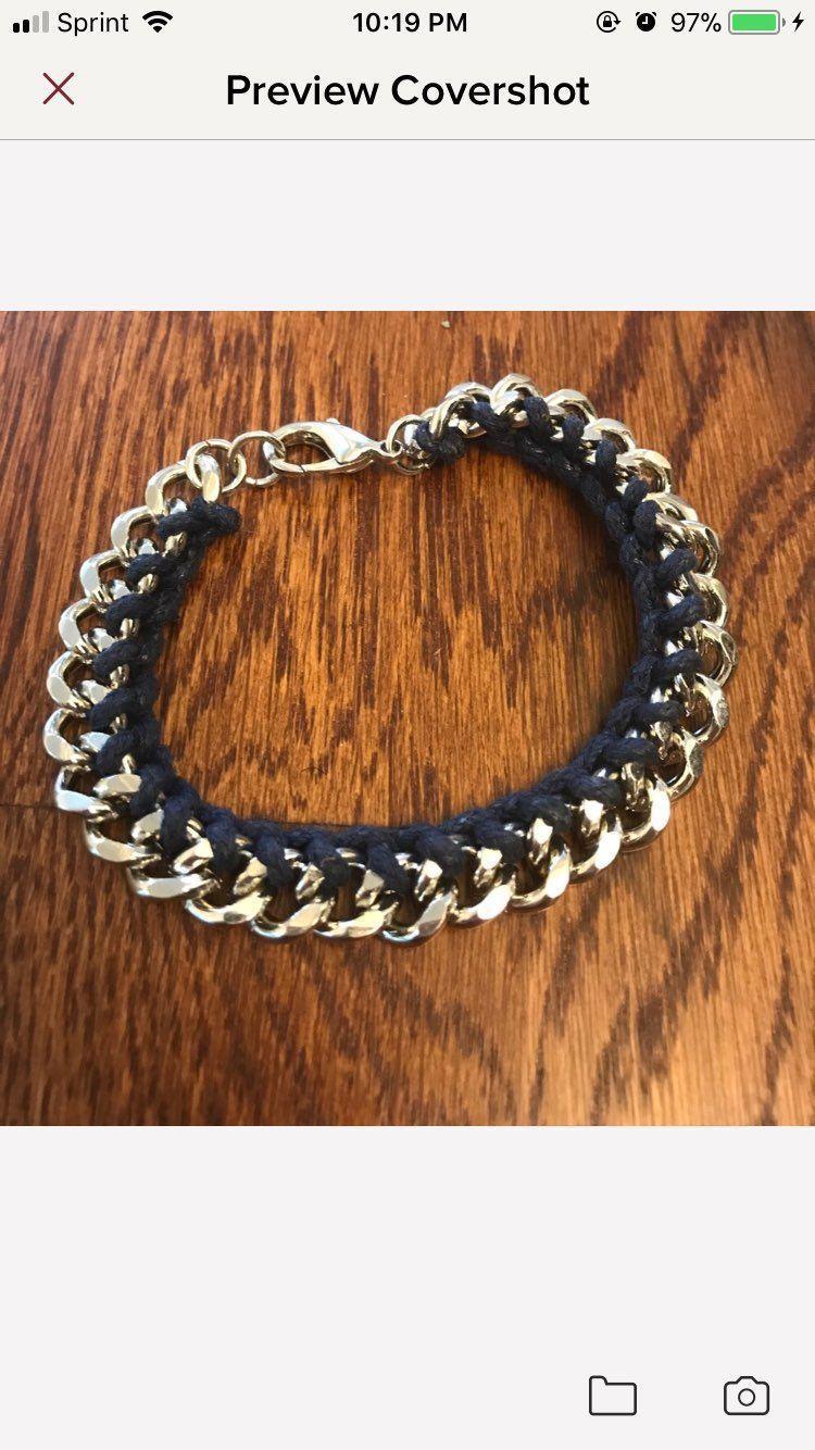 Mens chain link bracelet