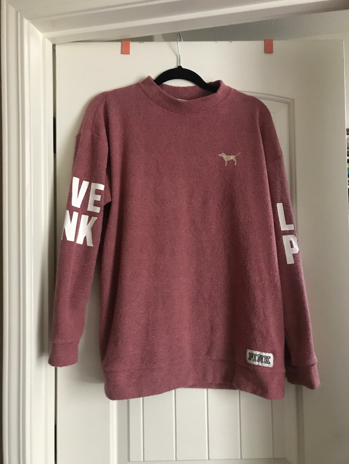 Victoria's Secret Pink Mockneck Sweater - Mercari: BUY & SELL ...