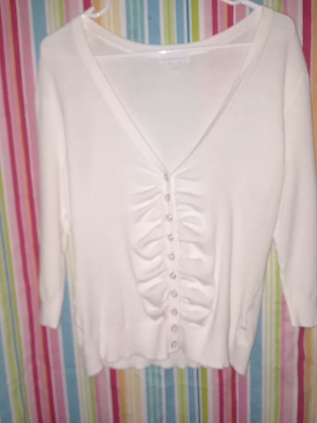 Womens white button up sweater - Mercari: BUY & SELL THINGS YOU LOVE