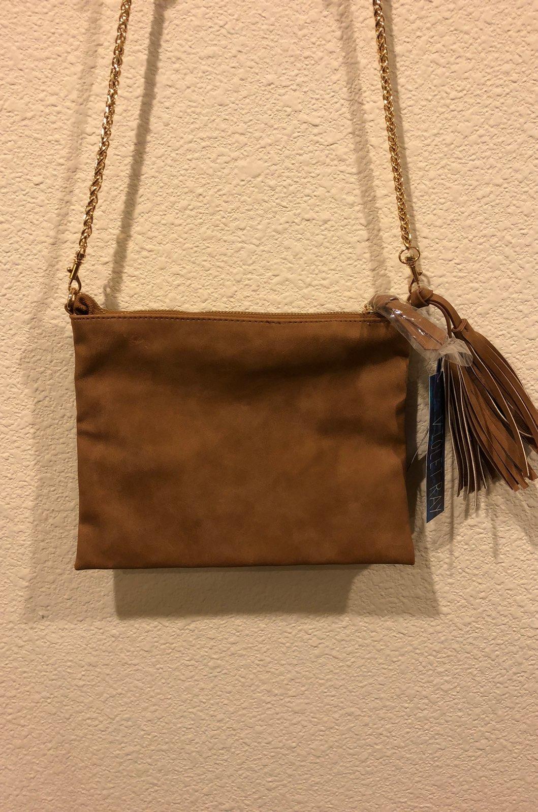 NWT Nude Brown Crossbody Bag Clutch