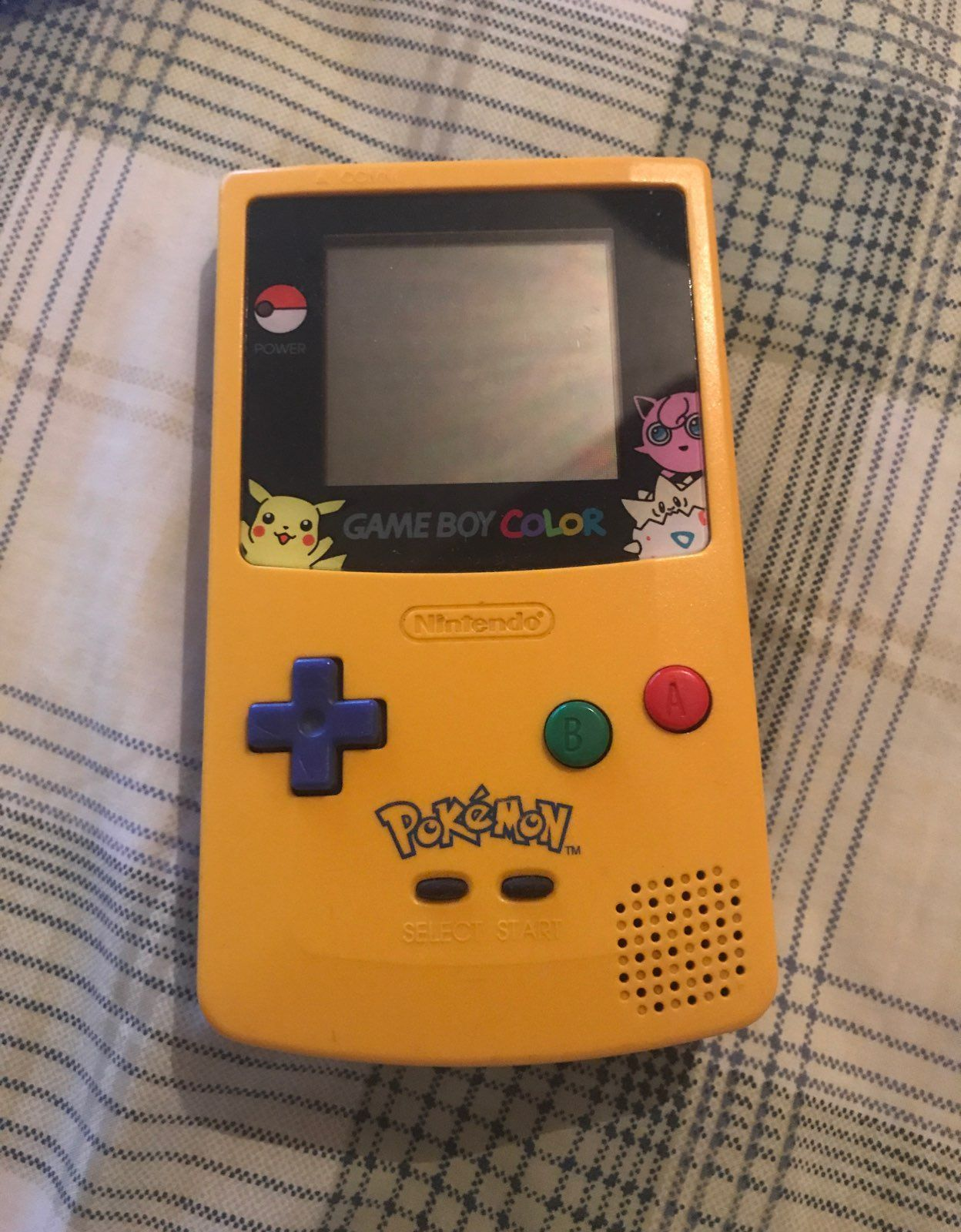 Gameboy color and pokemon yellow - Game Boy Color Pok Mon Yellow Pikachu Ed