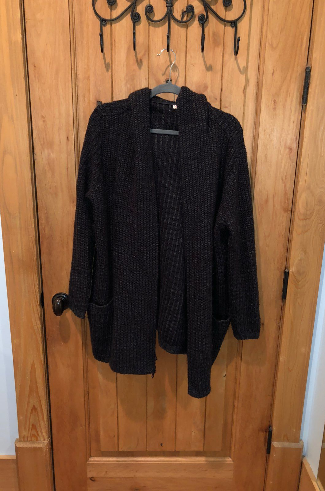 Black Sweater Coat Cardigan - Mercari: BUY & SELL THINGS YOU LOVE