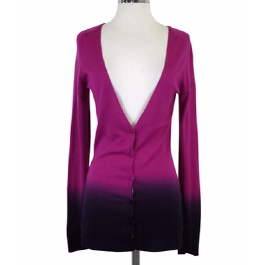 Theory P Cashmere Purple Ombre Sweater - Mercari: BUY & SELL ...