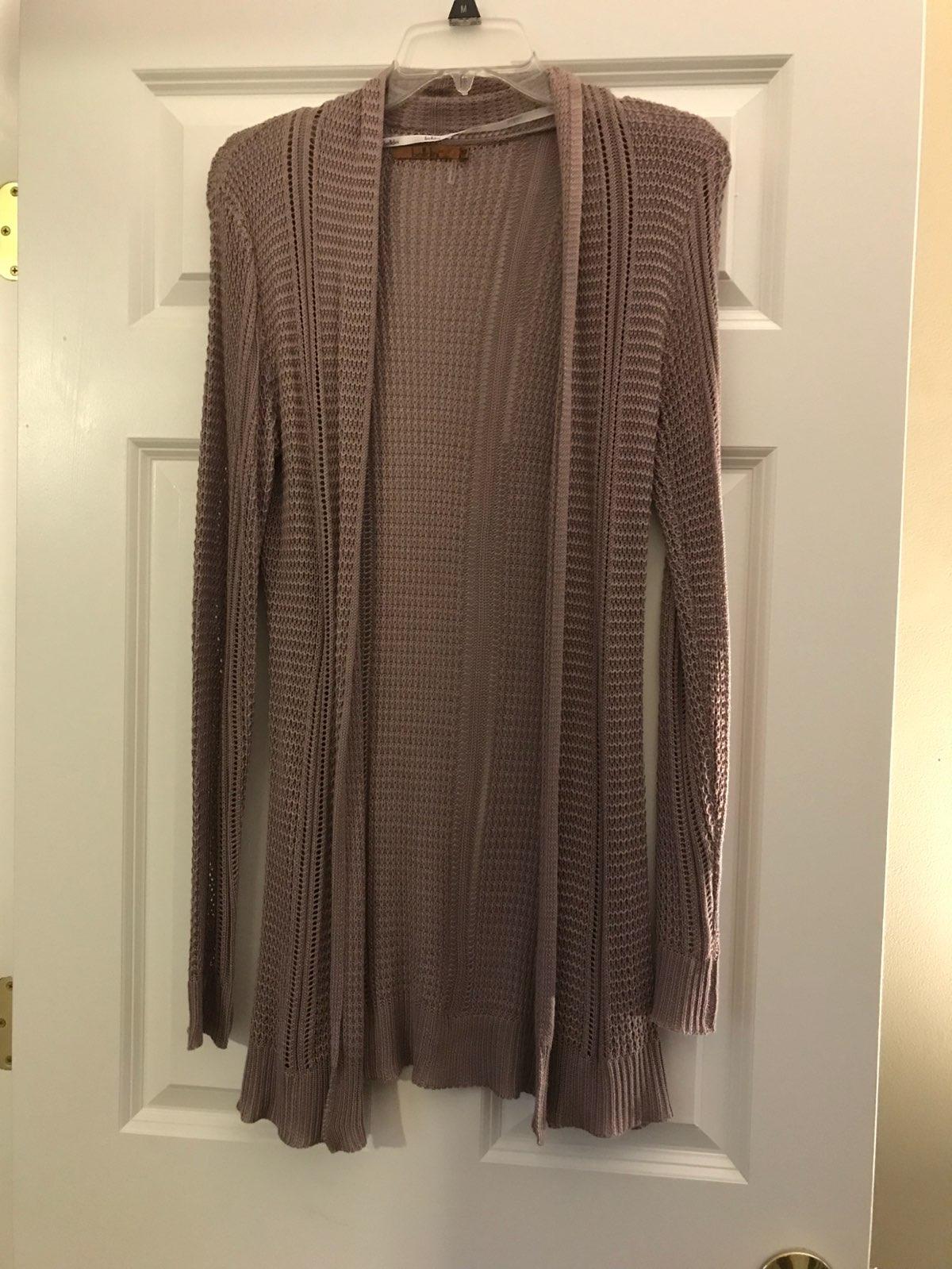 Long Silky Tan Cardigan Sweater - Mercari: BUY & SELL THINGS YOU LOVE