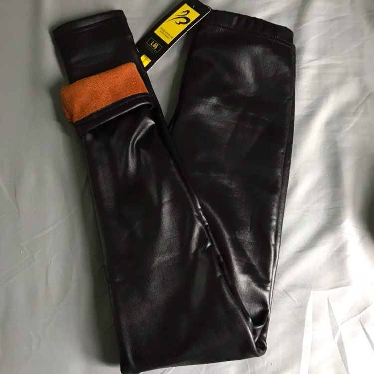 Lined Leather Leggings