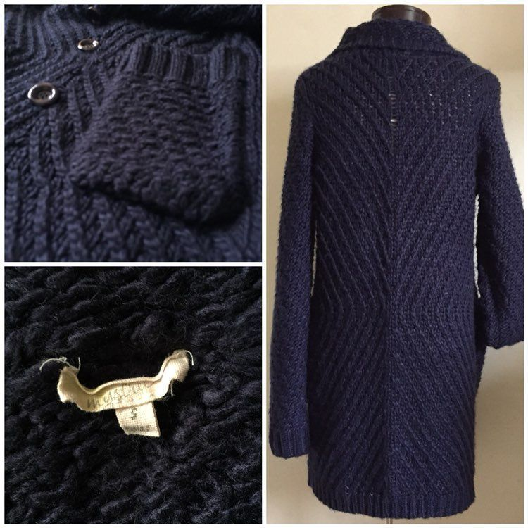 Navy Blue Sweater Coat - Mercari: BUY & SELL THINGS YOU LOVE