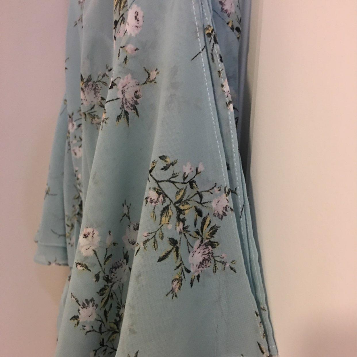 Powder Blue Cold Shoulder Dress