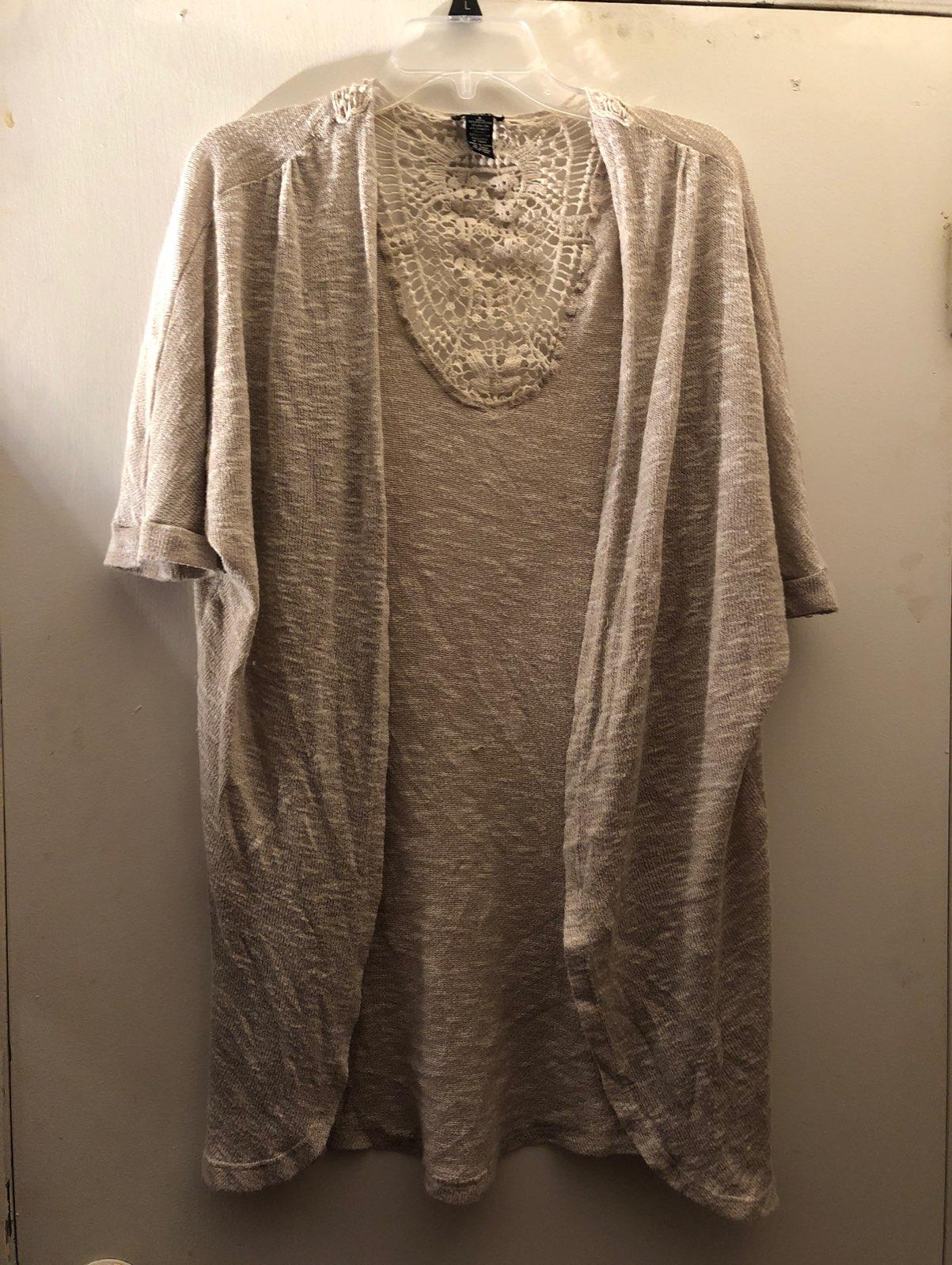 Rue 21 Short Sleeve Cardigan - Mercari: BUY & SELL THINGS YOU LOVE