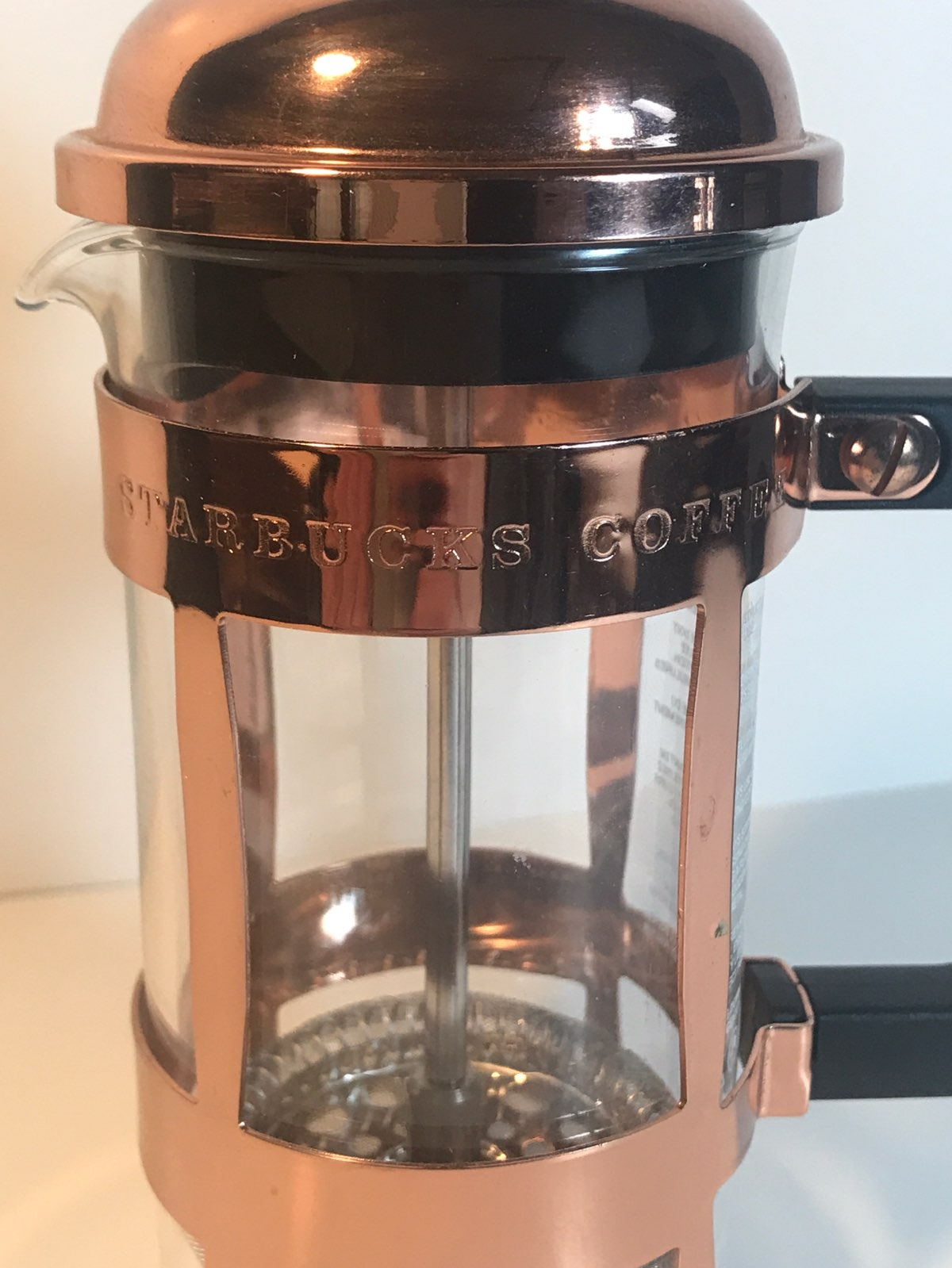 Copper Plated Starbucks French Press