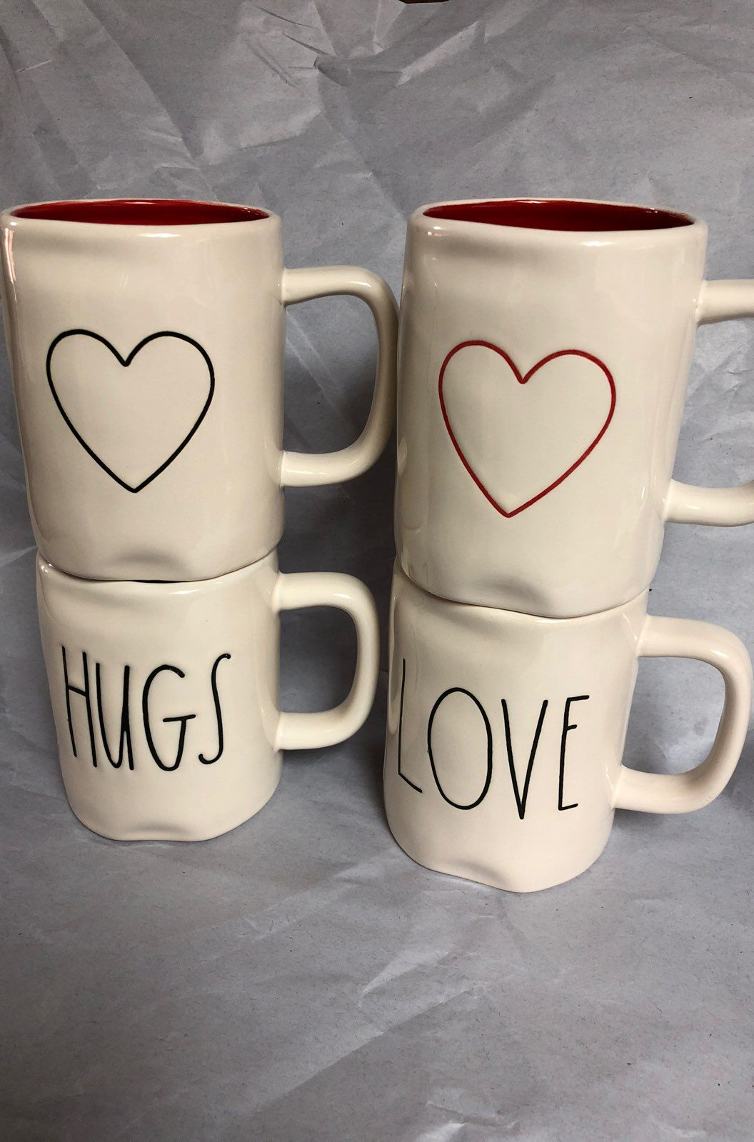 rae dunn valentine mugs