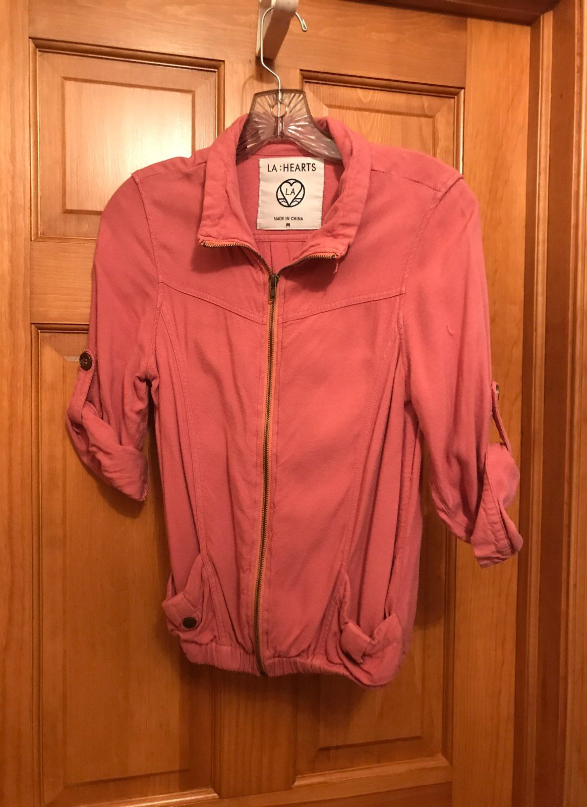 pink zip up sweater - Mercari: BUY & SELL THINGS YOU LOVE