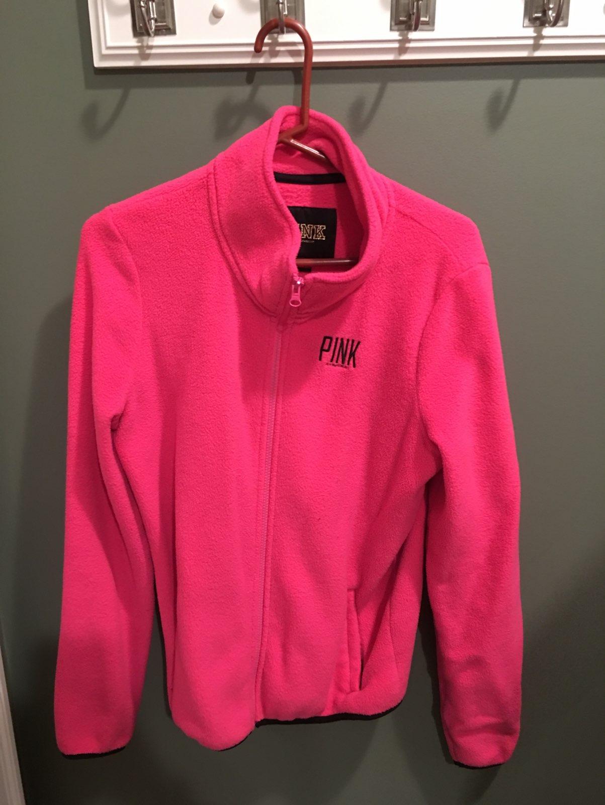 Victoria's Secret Pink Fleece Jacket - Mercari: BUY & SELL THINGS ...
