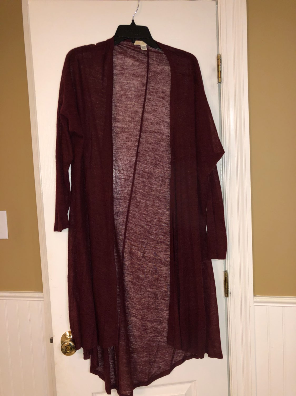 Long Burgundy Cardigan Size XL - Mercari: BUY & SELL THINGS YOU LOVE