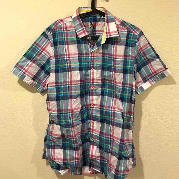 Robert Graham plaid short sleeve shirt