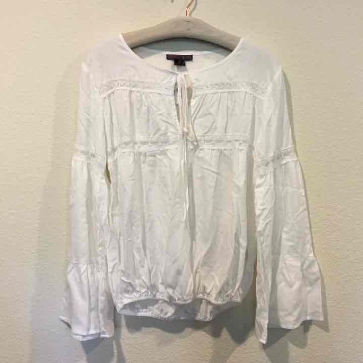 NWT white sheet boho blouse top