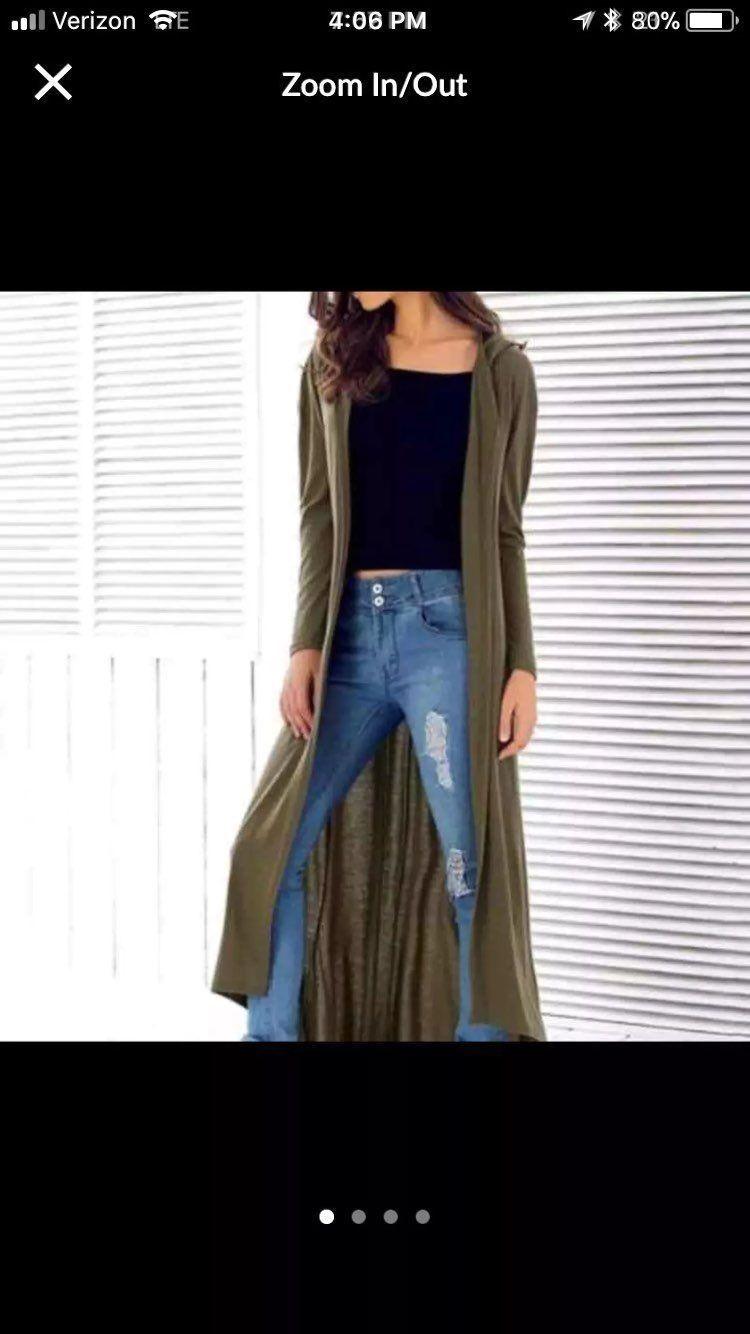 Hooded Long Sleeve Maxi Cardigan - Mercari: BUY & SELL THINGS YOU LOVE